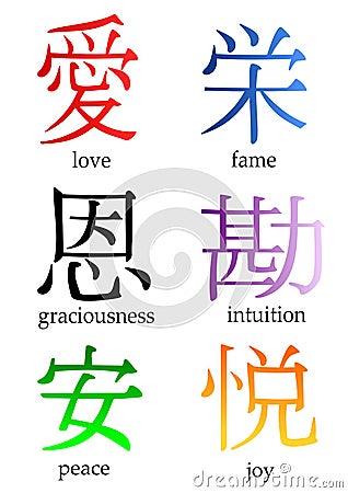 Japanese Kanji Royalty Free Stock Photos