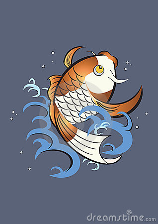 Japanese koi fish graphic