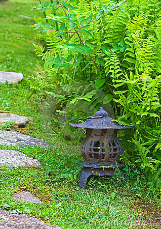Japanese Lantern in Garden