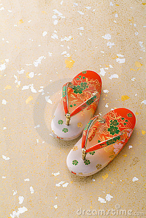 Free Japanese Little Girl Sandals Stock Images - 24128414