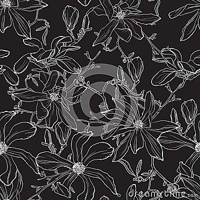 Free Japanese Magnolia Flower Illustration. Stock Photo - 127470350
