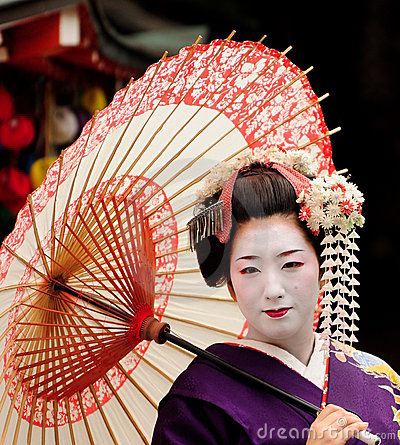 Japanese maiko Editorial Photography