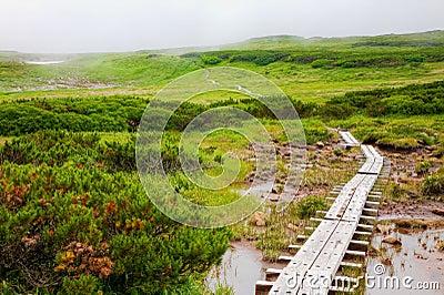 Japanese National Park Daisetsuzan in Hokkaido