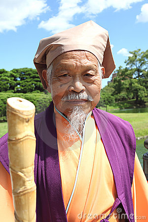 Japanese old man Editorial Stock Photo