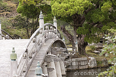 Japanese ornamented bridge, Kyoto