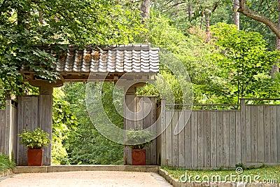 Japanese Pagoda Garden Gate
