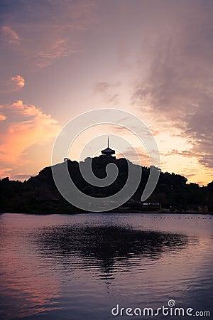 Japanese Pagoda Reflection