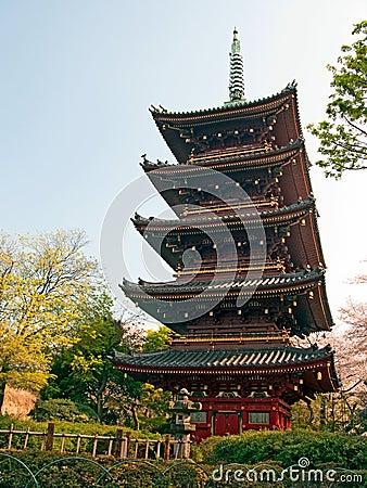 Japanese pagoda in Tokyo