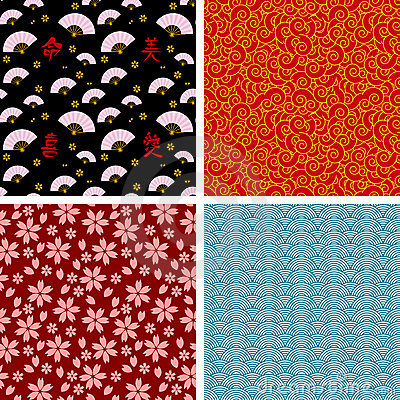 Free Japanese Patterns Stock Images - 19314414