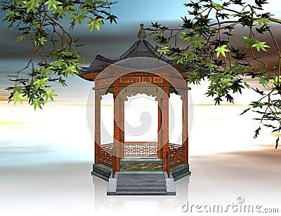 Chinese Gazebo Stock Illustrations – 32 Chinese Gazebo Stock ...