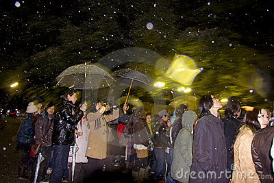 Japanese people new year eve pray temple shrine Editorial Photography