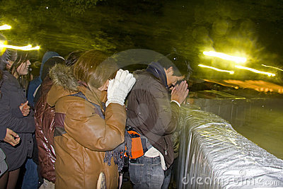 Japanese people new year eve pray temple shrine Editorial Image