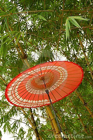 Free Japanese Red Umbrella Stock Images - 11457284