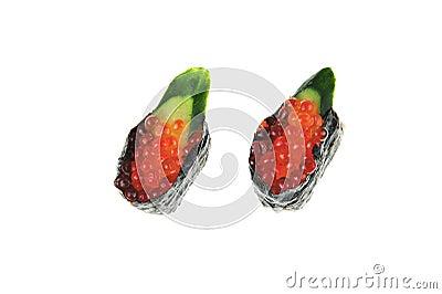 Japanese Rice Sushi With Fish Eggs Stock Photography - Image: 17450882