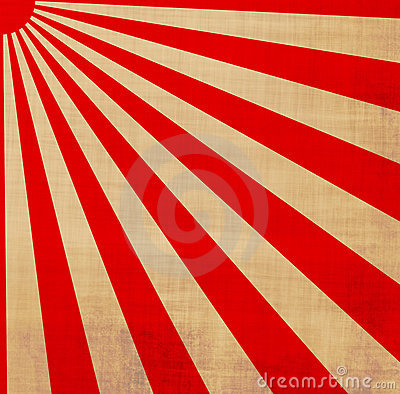 Japanese rising sun sunbeams