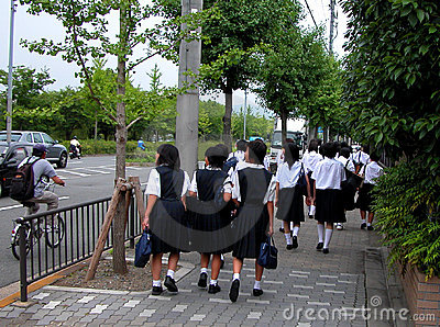 Japanese schoolgirls