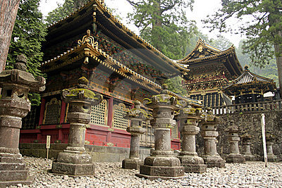 Japanese Shinto Buddhist temples in Nikko