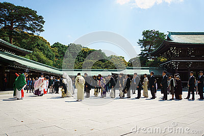 Japanese shinto wedding ceremony Editorial Photo