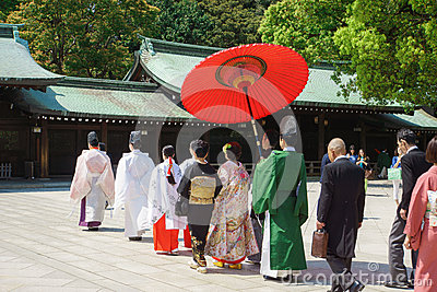Japanese shinto wedding ceremony Editorial Image