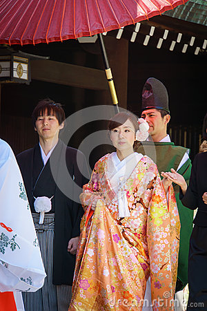 Japanese shinto wedding ceremony Editorial Image