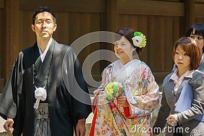 Japanese shinto wedding ceremony Editorial Stock Photo