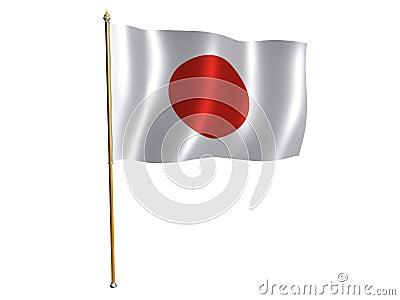 Japanese silk flag