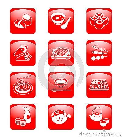 Japanese sushi-bar icons