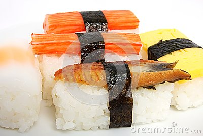 Japanese sushi traditional food