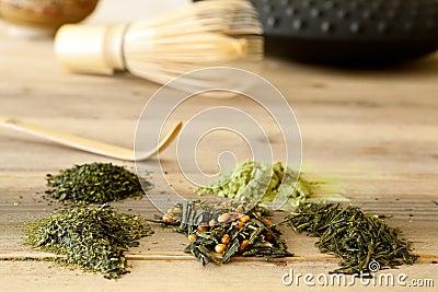 Japanese tea assortment