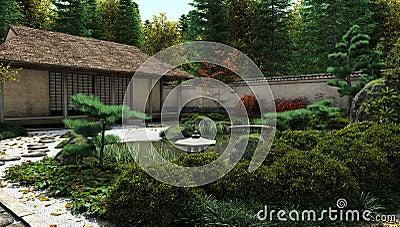 Japanese Tea House and Pond