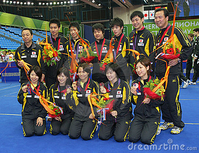 Japanese Teams Editorial Stock Image