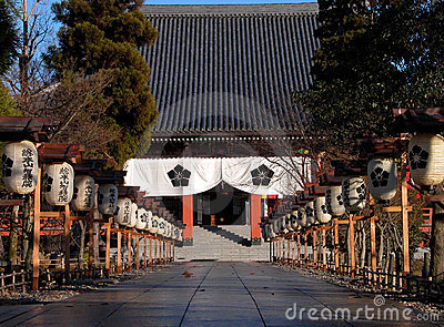 Japanese temple entrance
