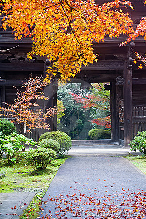 Japanese temple exit
