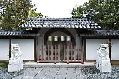 Japanese temple gate