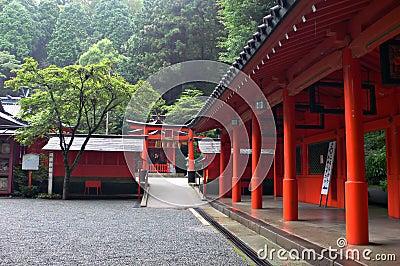 Japanese temple inner yard