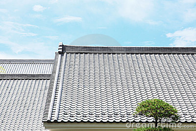 Japanese tiled roof