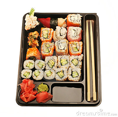 Japanese traditional sushi