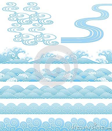 Free Japanese Traditional Wavess Stock Photos - 27671393