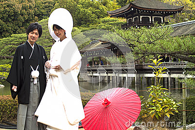Japanese traditional wedding costum Editorial Image
