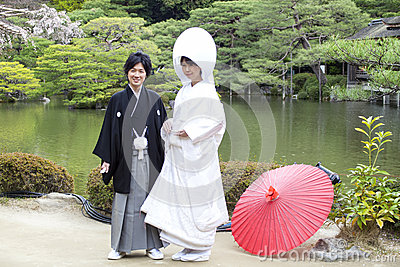 Japanese traditional wedding dress Editorial Image