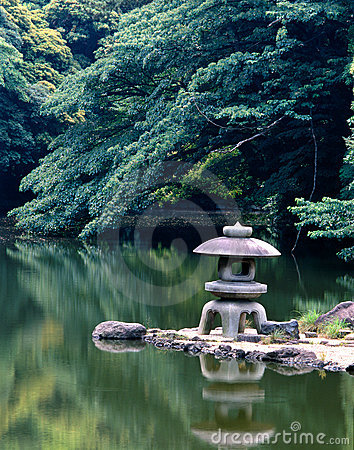 Japanese tranquil garden