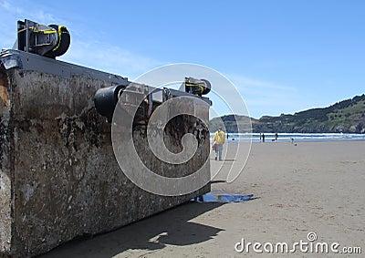 Japanese Tsunami Debris Editorial Photo