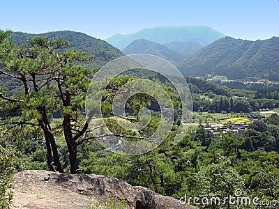 Japanese valley landscape