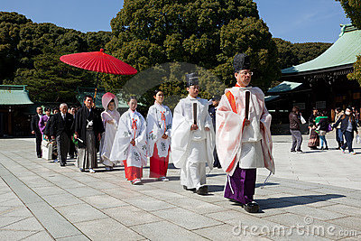 Japanese Wedding ceremony Editorial Stock Image