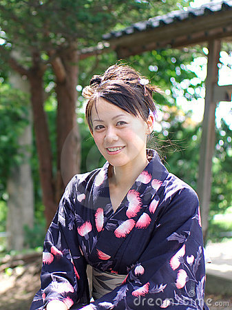 Japanese woman in a yukata