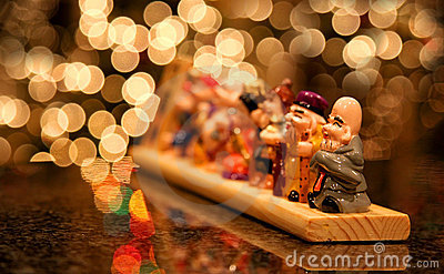Japanese wooden carved idols