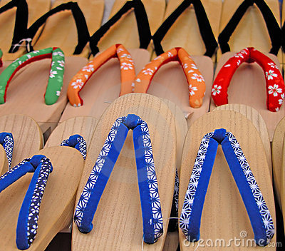 Japanese wooden slippers