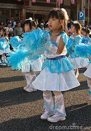Japanese young children Festival Dancers Editorial Photography