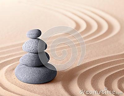 Japanese zen meditation garden