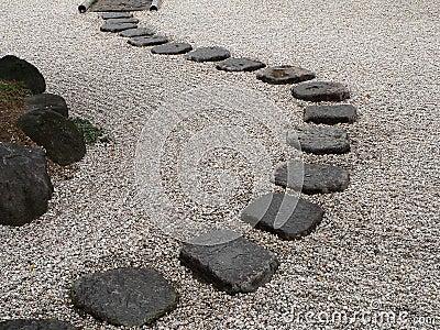 japanischer steingarten stockfoto - bild: 21636650, Garten Ideen